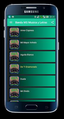 Solo Con Verte Banda MS Letras - screenshot