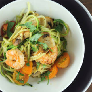 Shrimp and Zucchini Pasta.