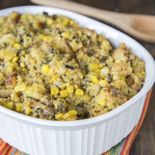 Southwest Cornbread and Sausage Stuffing