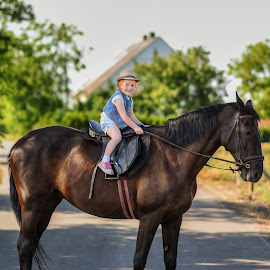 Horse ride by Piotr Owczarzak - Babies & Children Children Candids ( horse, poland, village, summer, kids,  )