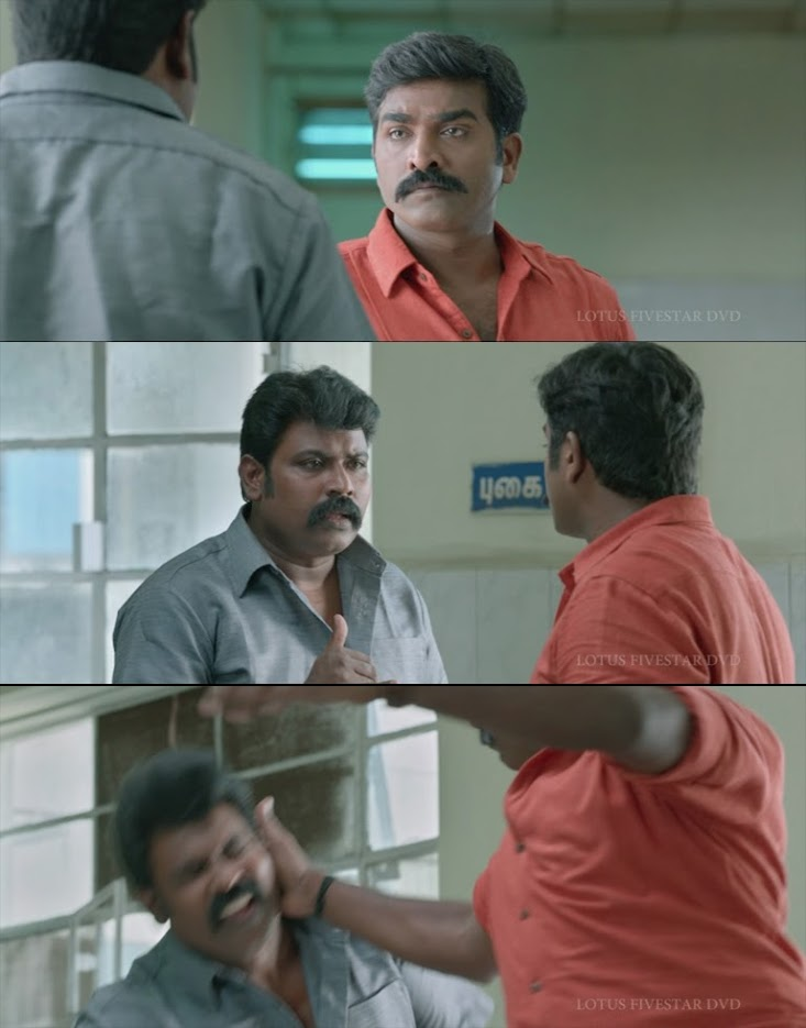 tamil vijay sethupathi attacking fellow police