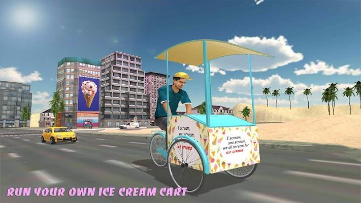 Beach Ice Cream Man Free Delivery Simulator Games - screenshot