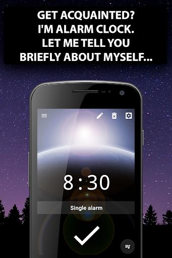 Alarm clock Malarm ⏰ Without stress. Without ads. screenshot 1