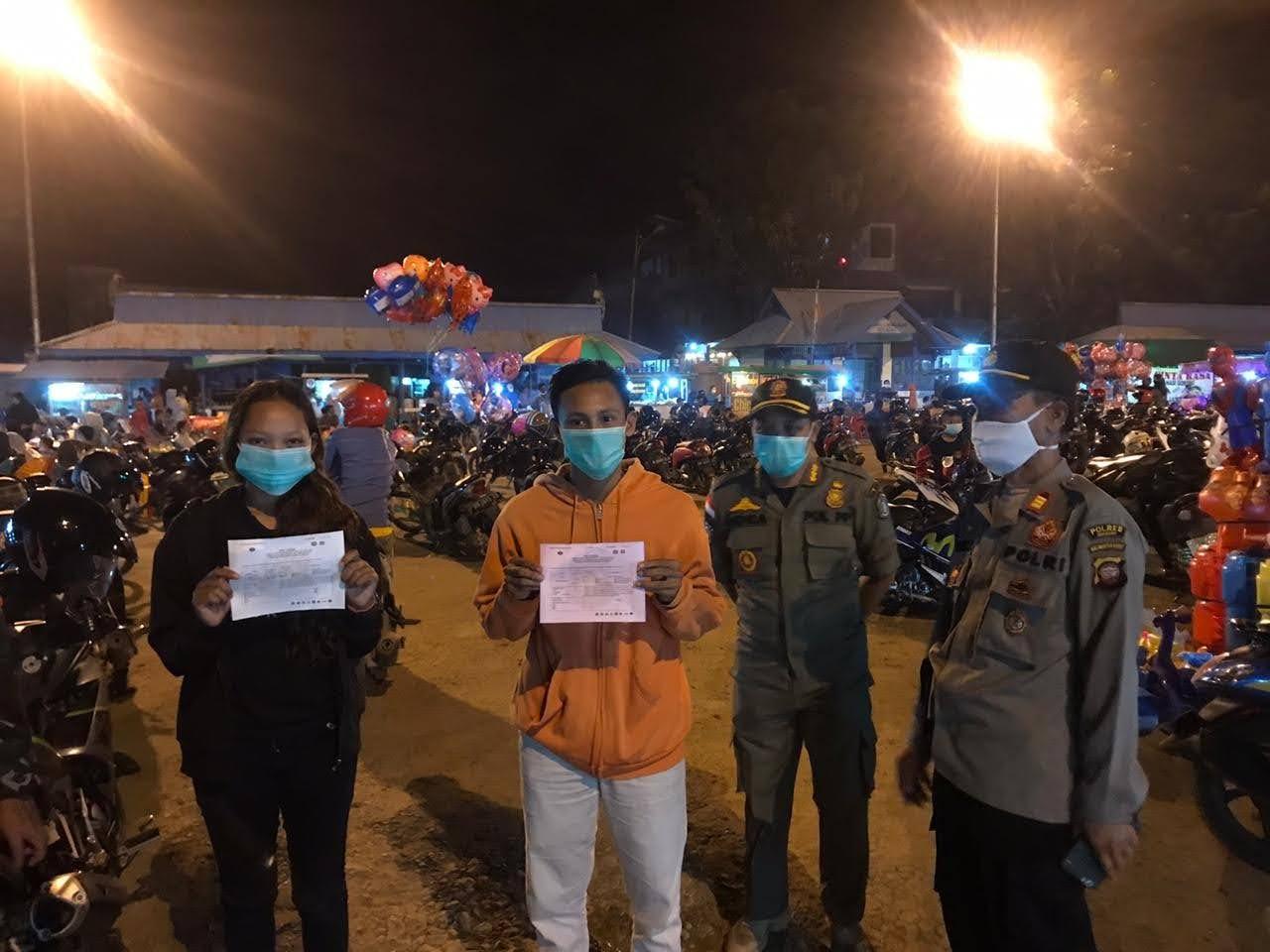 Operasi Yustisi Disiplinkan Prokes di Komplek Terminal Lawang Kuari Sekadau