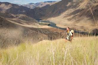 Photo: Young woman hiking while on a raft trip down Hell's Canyon of the Snake River, ID / OR. Hell's Canyon is the deepest canyon in North America. hiking while on a raft trip down Hell's Canyon of the Snake River, ID / OR. Hell's Canyon is the deepest canyon in North America.