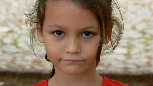 Portrait of a young girl in Cuba.