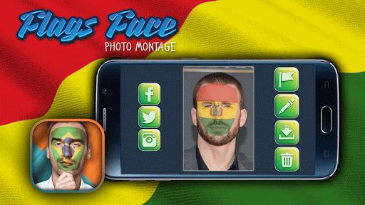 顔に国旗 - 国旗シミュレーション アプリ