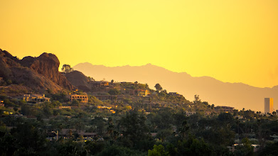 Photo: Camelback Mountain, Arizona, at sunset. No wonder they call it Valley of the Sun.
