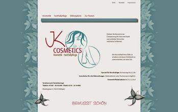 Photo: Referenz Webdesign: JK Cosmetics (HTML5/CSS3, responsive Design, WordPress)