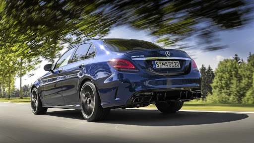 The rear gets the latest C-Class treatment and the S versions get a unique diffuser. Picture: DAIMLER