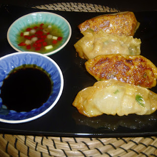 Asian Pork and Fennel Pot Stickers with Sweet Chilli Dipping Sauce.