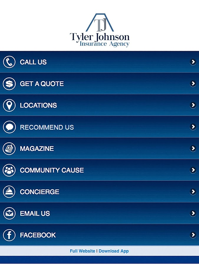 Tyler Johnson Insurance- screenshot