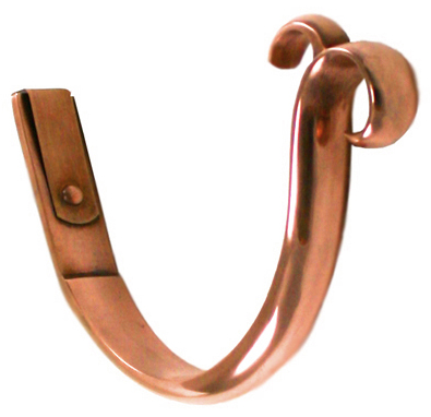 Photo: Double Curl Copper Gutter Hanger