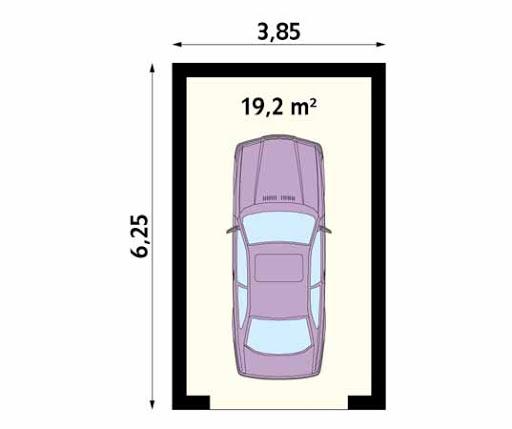MS-G3 - Rzut garażu