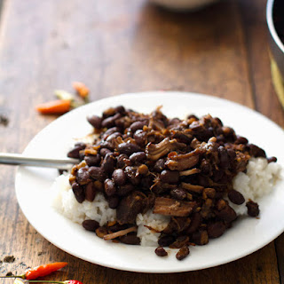 Crockpot Pork Adobo with Black Beans.