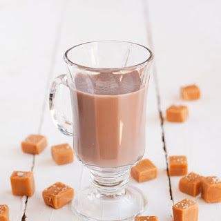 Salted Caramel Hot Chocolate Cocktail