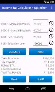 Income Tax Calculator Optimize- screenshot thumbnail