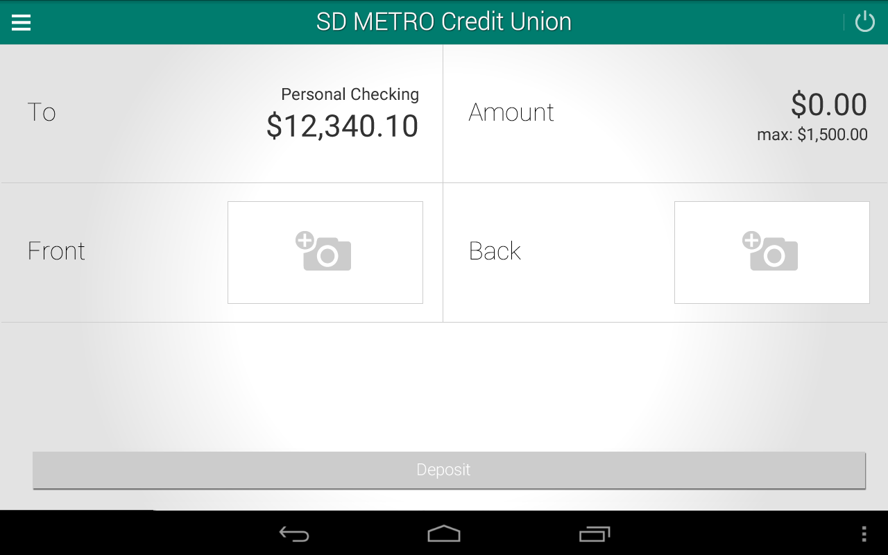SD METRO Credit Union- screenshot