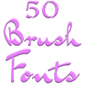 Fonts for FlipFont 50 Brush icon