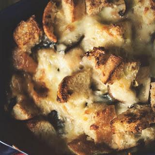 Savory Mushroom and Gruyere Bread Pudding.