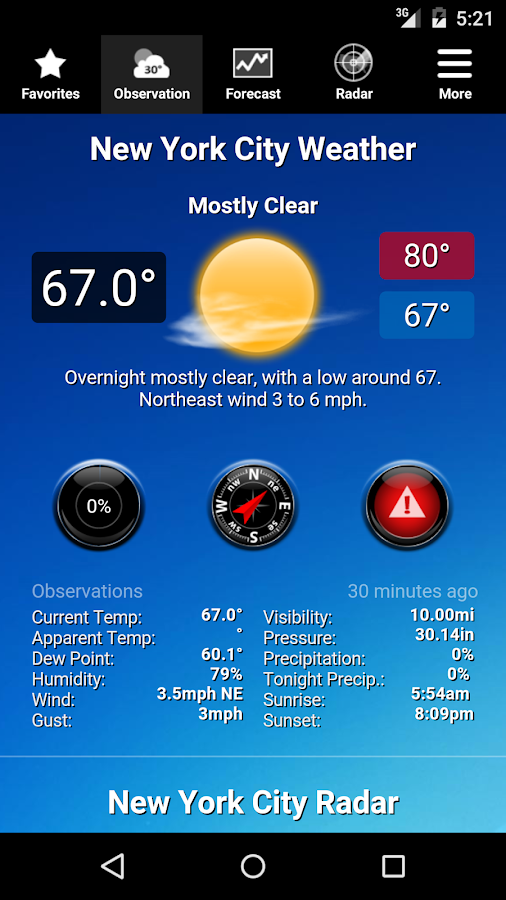 NOAA Weather- screenshot