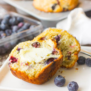 Jumbo Bakery Style Blueberry Muffins.