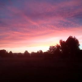 The bleeding sky by Karlie Martin - Novices Only Landscapes ( sky, amazing, pink, dusk, sunset )