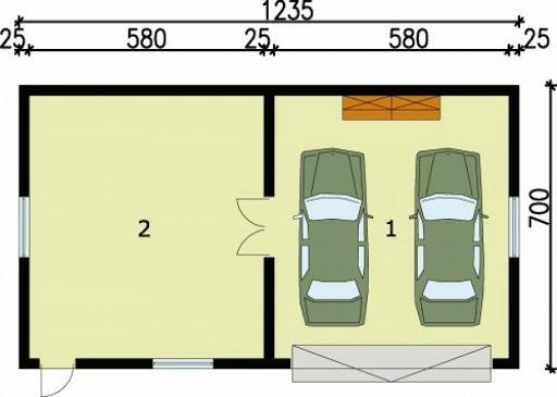 G99 - Rzut garażu