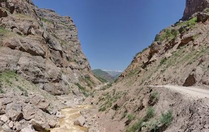 Wild mountain river.