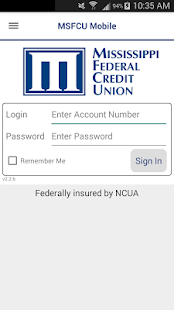 MSFCU Mobile- screenshot thumbnail