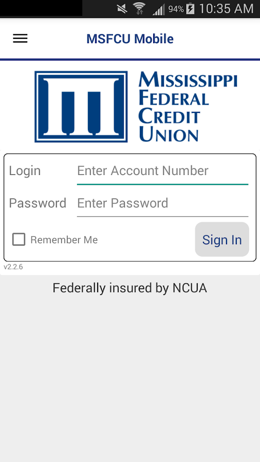 MSFCU Mobile- screenshot