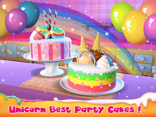 Unicorn Cake Bakery Chef : Food Maker Baking Game - screenshot
