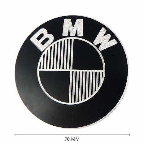 CNC Aluminium BMW 70MM Emblem Set Black Type 4