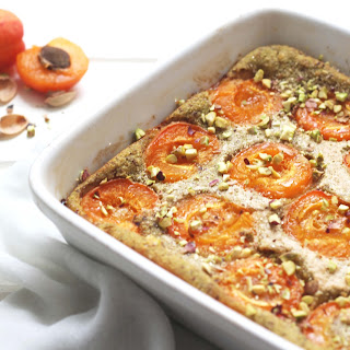 Clafoutis With Apricots, Pistachio And Almond Milk