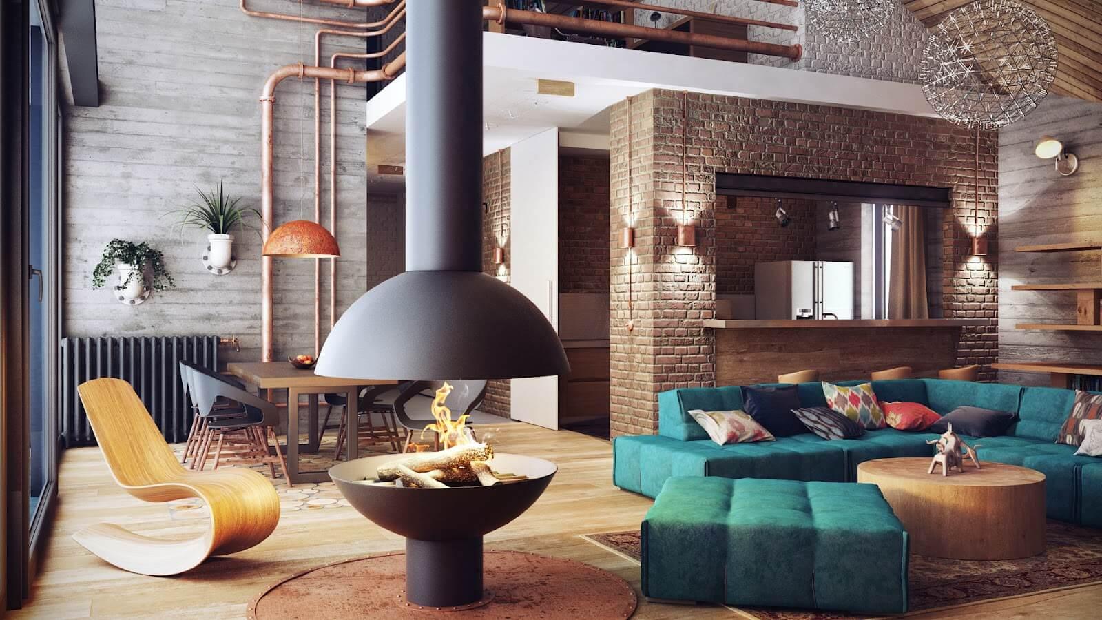 loft house interior design in cyprus