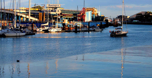 The waterfront of Boulogne Sur Mer is near Calais, in northern France.