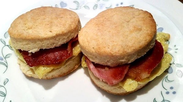 Bake for 8 - 10 minutes or until golden.  Serve as mini biscuit sandwiches as...