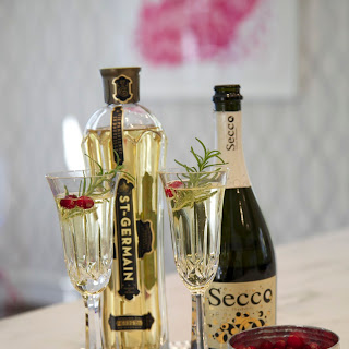 Rosemary St. Germain Champagne Cocktail