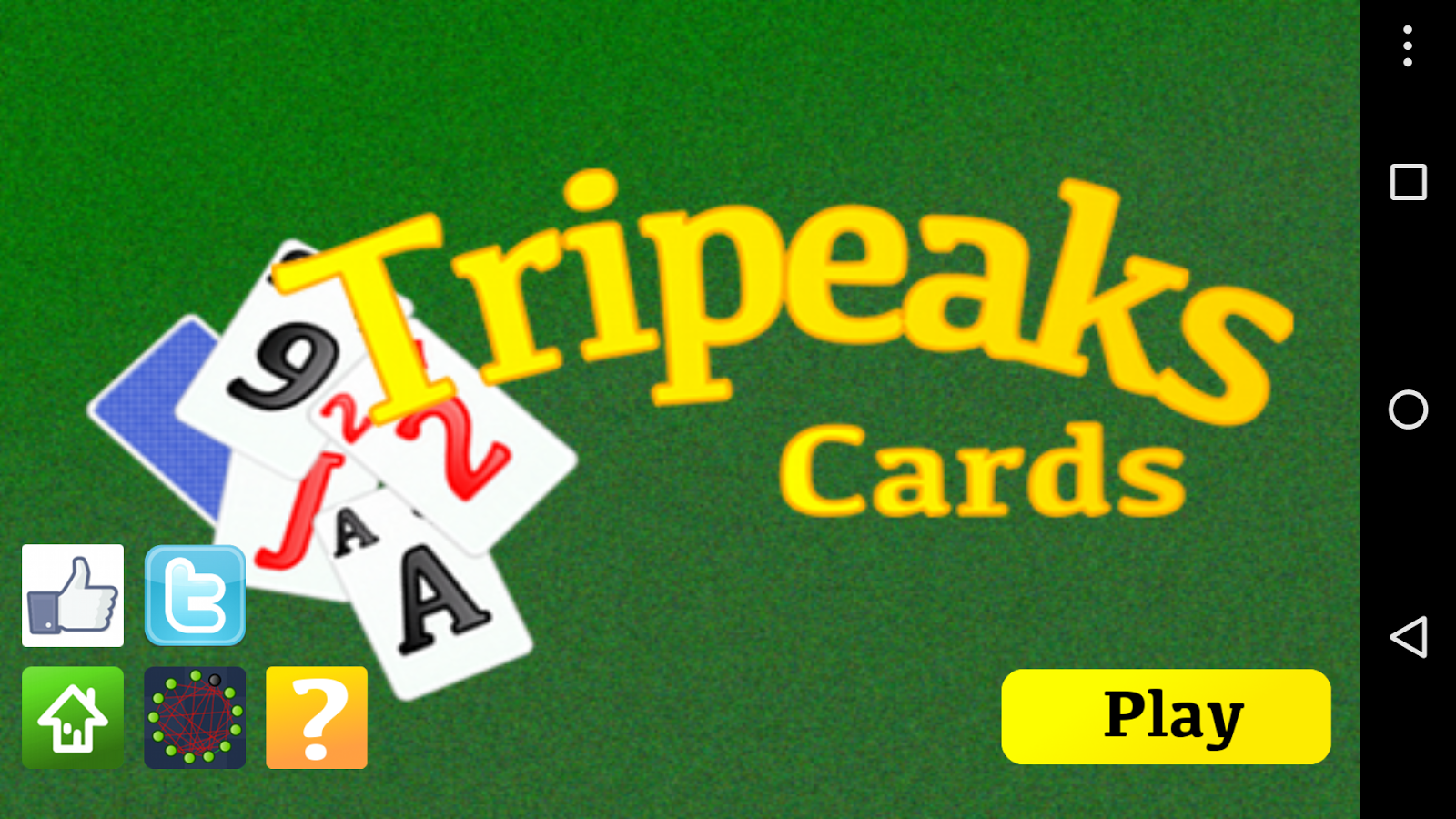 Tripeaks Cards Pyramid- screenshot