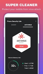 Phone Security Lite & Antivirus Screenshot