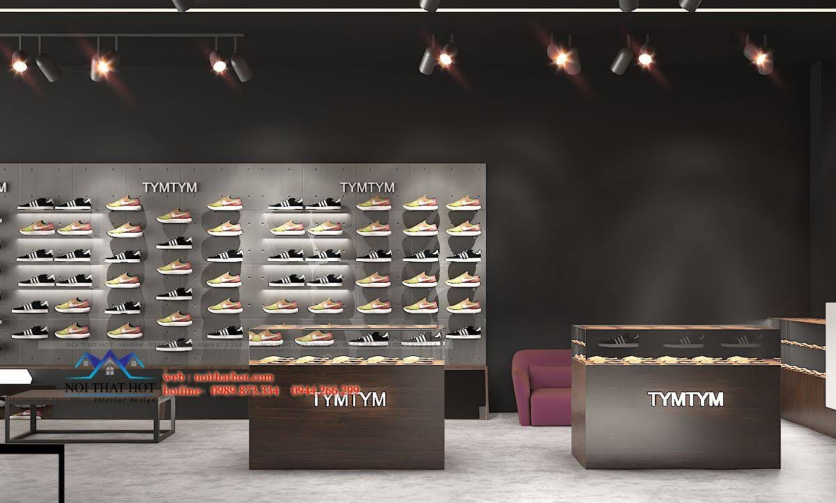 thiết kế shop giày nam 4