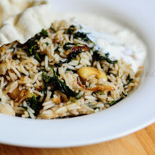 Methi Pulao-Methi Rice-Fenugreek Leaves Pilaf