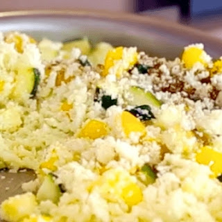"Pineapple Fried Cauliflower ""Rice""."