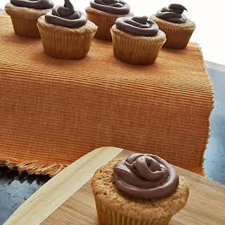 Subtly Chocolate Cupcakes with Nutella Cream Cheese Frosting.