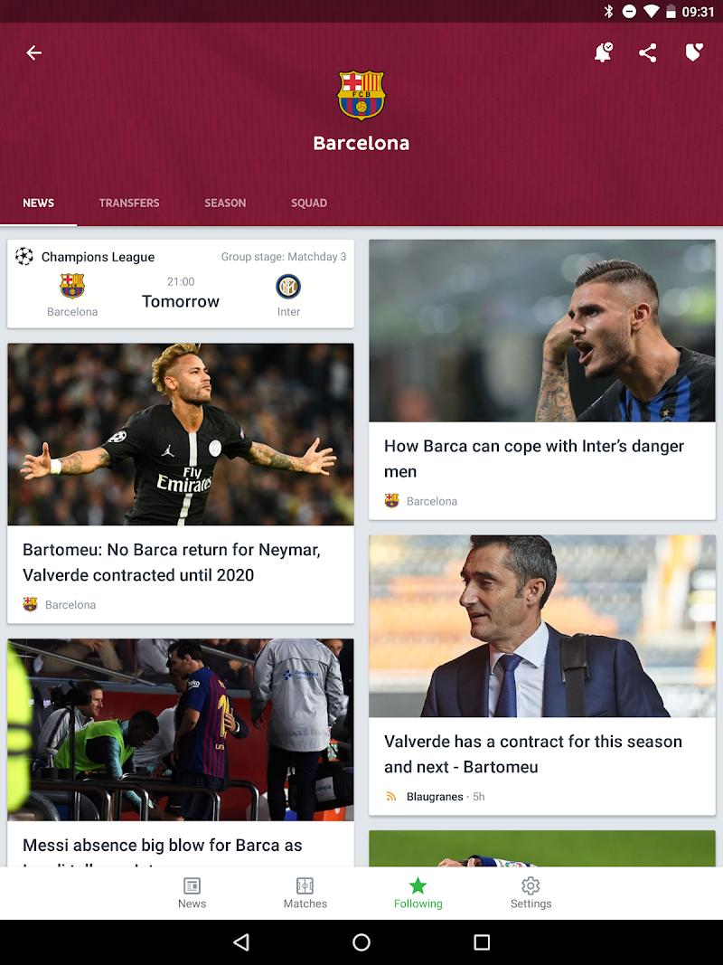 Onefootball - Soccer Scores Screenshot 9