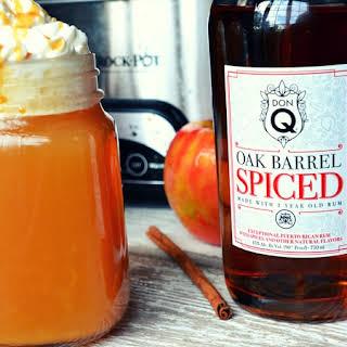 Warm Vanilla Wassail with Don Q Oak Barrel Spiced Rum.