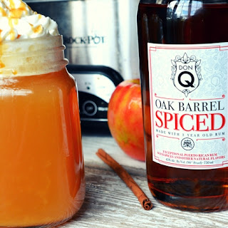 Warm Vanilla Wassail with Don Q Oak Barrel Spiced Rum.