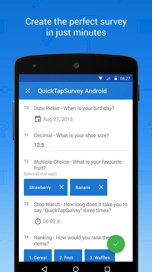 QuickTapSurvey Offline Survey - screenshot