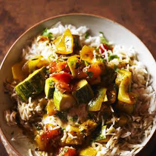 Coriander And Spiced Marrow Curry.