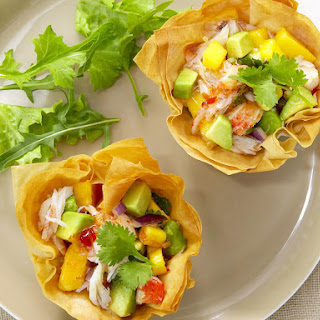 Shrimp, Crab and Avocado Phyllo Cups